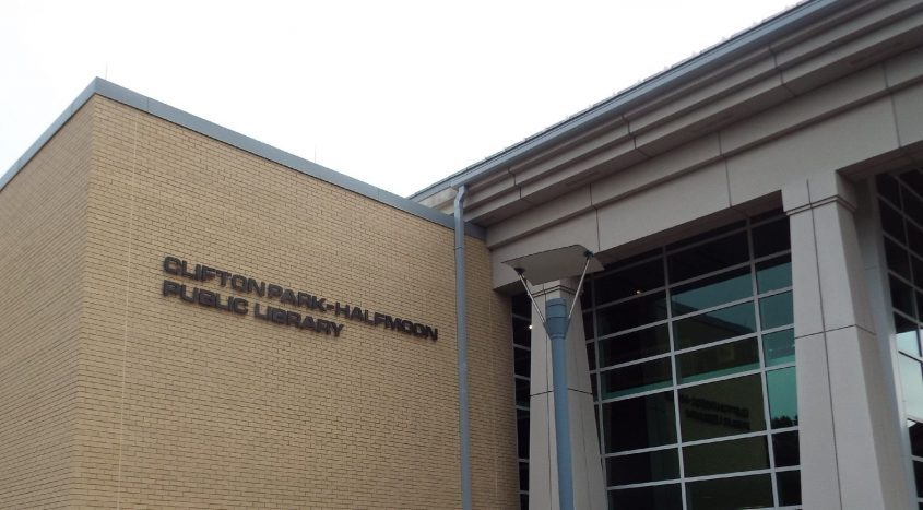 The exterior of the Clifton Park-Halfmoon Public Library is seen in this March 8, 2015 file photo.