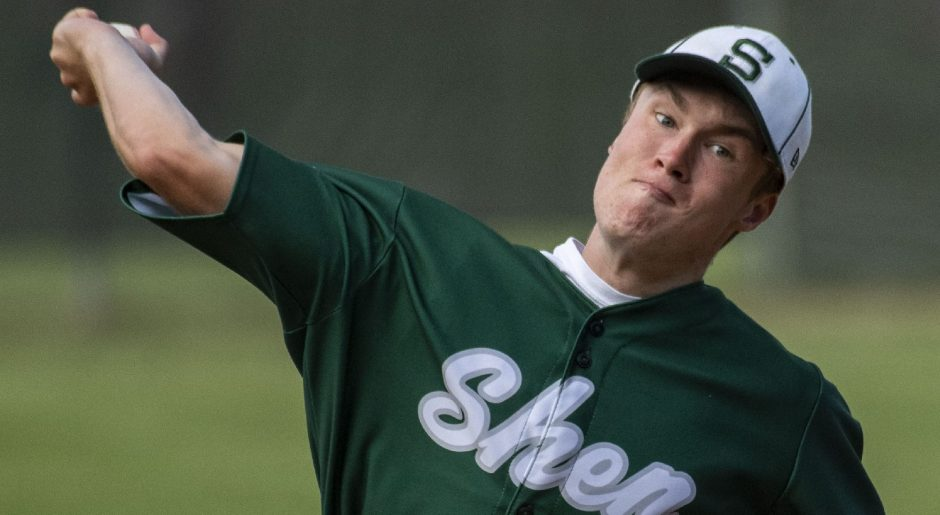 Shenendehowa pitcher Will Shea on the mound against Niskayuna Tuesday, May 25, 2021.