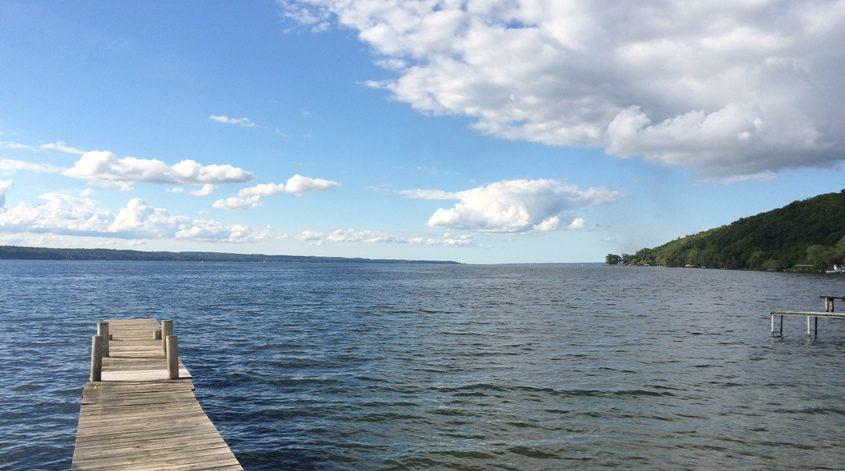 Seneca Lake, one of  New York's 11 Finger Lakes.