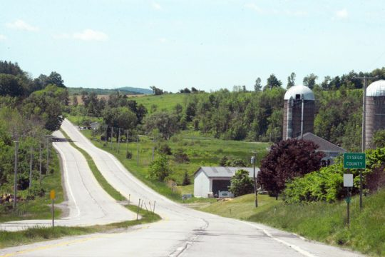 The road to Otsego Lake.