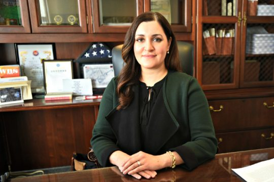 Niskayuna Supervisor  Yasmine Syed in March.