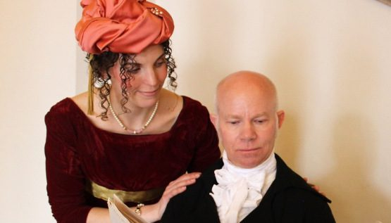 Judith Kalaora as Dolley and Kyle Jenks as James Madison. (History at Play)