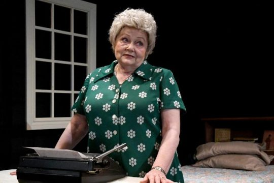 """Terri Storti portrays humorist Erma Bombeck in """"At Wit's End"""" at Curtain Call Theatre in Latham. (Michael Farrell)"""