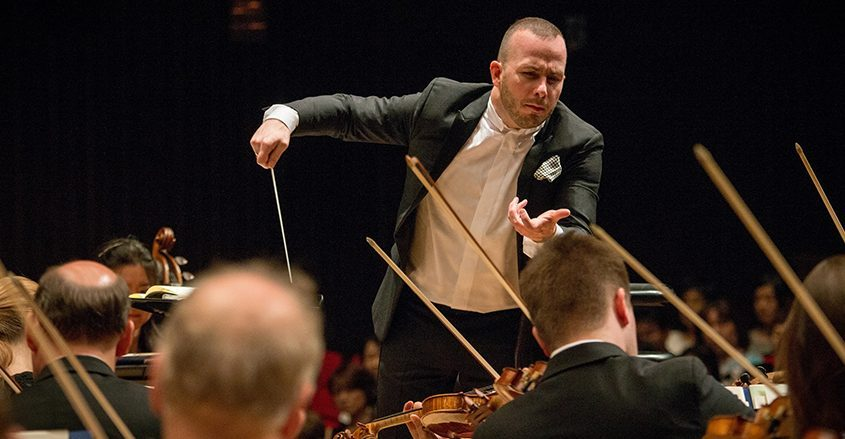 Music Director Yannick Nézet-Séguin conducts the Philadelphia Orchestra in this file photo. (Jan Regan)