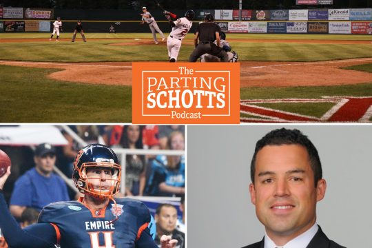 The Tri-City ValleyCats, the Albany Empire and former RPI hockey player and Union assistant coach Ben Barr are the topics on the latest 'The Parting Schotts Podcast.'