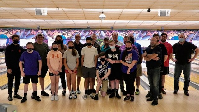 The Capital District Challenge League, with many members shown here, bowls every Tuesday night at East Greenbush Bowling Center. A different oil pattern is used each week. (Photo provided)