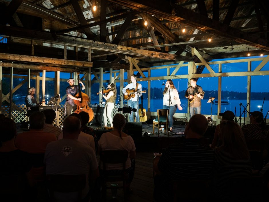 Live music at Sherman's has Caroga Lake as a backdrop. (photo provided)