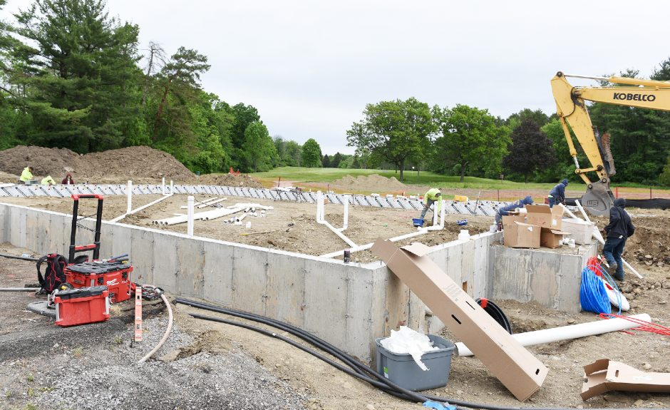 Construction has begunon a new Stewart's building off Route 146 and Riverview Road in Rexford, behind a current Stewart's building.
