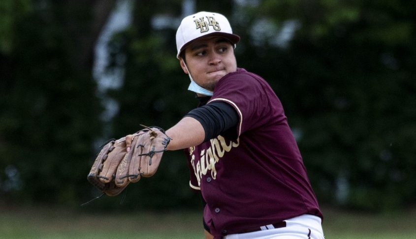 Pitcher Colin Campbell of Notre Dame-Bishop Gibbons threw a no-hitter Friday against Northville.