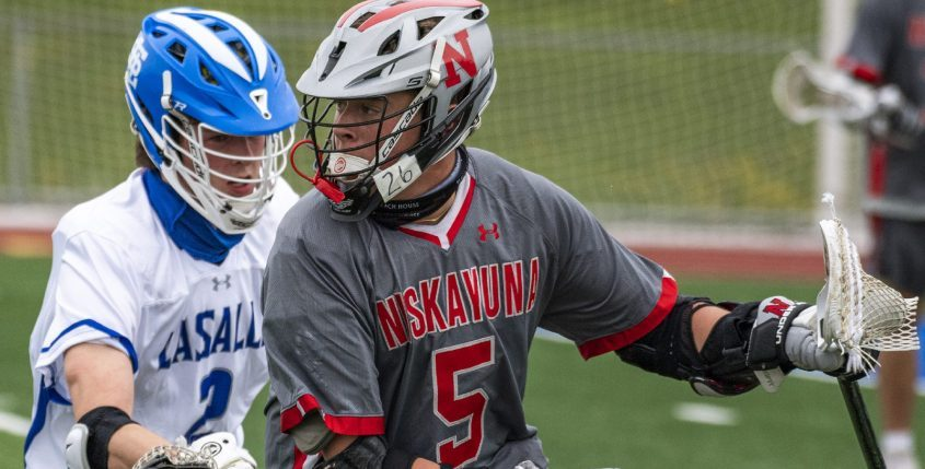 Niskayuna's Greyson Vorgang set school records for goals and points in a game on Saturday.