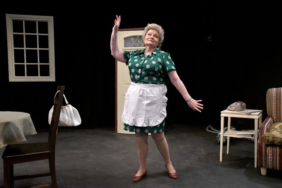 """Terri Storti portrays Erma Bombeck in """"At Wit's End"""" at Curtain Call Theatre in Latham. (Michael Farrell)"""