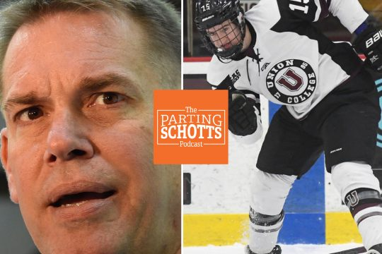 Union men's hockey coach Rick Bennett and former Dutchmen forward Jack Adams are the guests on the latest 'The Parting Schotts Podcast.'