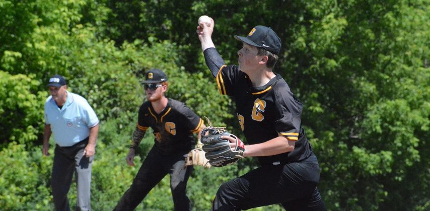 Canajoharie pitcher Jack Montanye delivers against Galway during a Section II Class C baseball tournament semifinal game on Saturday, June 12 at Canajoharie High School.