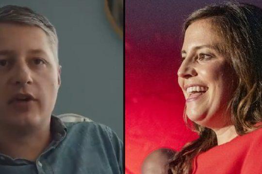 Matt Putorti, left, and Elise Stefanik, right - Putorti campaign, left, and file photo, right