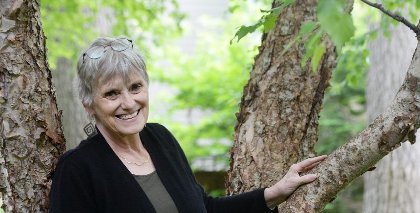 Saratoga Springs resident Barbara Glaser, 71, recentlynamed by the Adirondack Council as Conservationist of the Year, is pictured at her home on Friday.