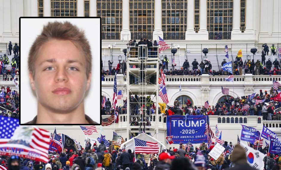 Brandon Fellows (inset) and supporters of President Donald Trump outside the Capitol Jan. 6.FBI (INSET) AP PHOTO/JOHN MINCHILLO (BACKGROUND)