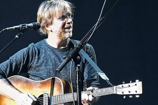 Phish co-founder Trey Anastasio will be on his own for three acoustic shows this weekend at Saratoga Performing Arts Center. (The Associated Press)