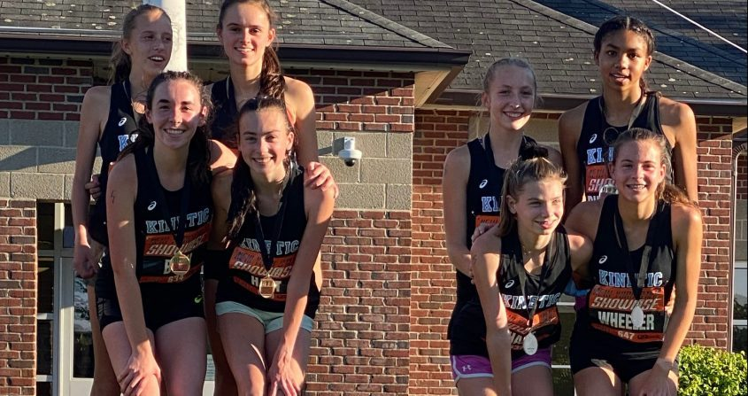 The Saratoga Springs High School girls finished first and second in the distance medley relay at the New York State showcase meet at Roundout Valley High School on Thursday. (Photo provided)