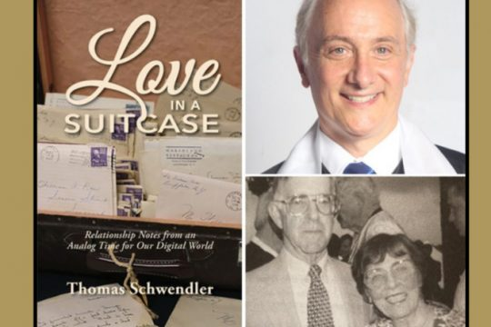Thomas Schwendler and his book. Lower right:William and Anne Marie Ross in a photo dated Aug. 27, 1995.