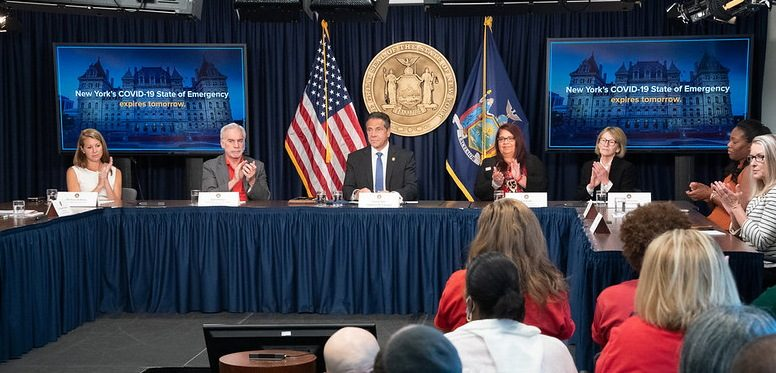 Gov. Andrew Cuomo on Wednesday announces that the COVID-related state of emergency in New York will end Thursday, more than 15 months after he declared it.