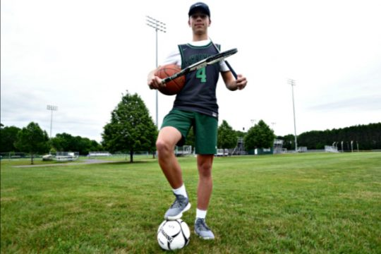 Schalmont senior Tyler Pepicelli competed on the Sabres golf, basketball, soccer and tennis teams his senior year.