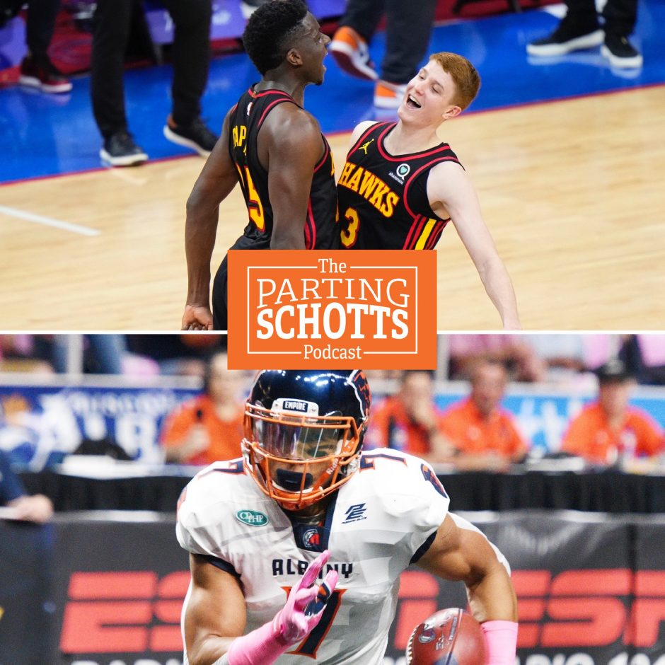 The Atlanta Hawks and Shenendehowa graduate Kevin Huerter (top) and the Albany Empire's Malachi Jones are the subjects on the latest 'The Parting Schotts Podcast.'