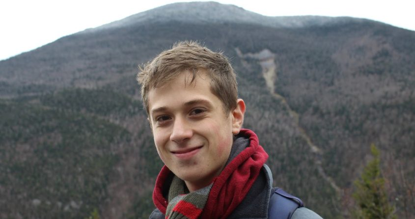 Casey Asaro of Shenendehowa High School on one of his hikes in the Adirondacks.