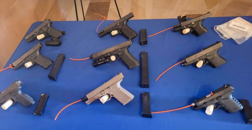 Guns on display at Thursday's press conference - Attorney General