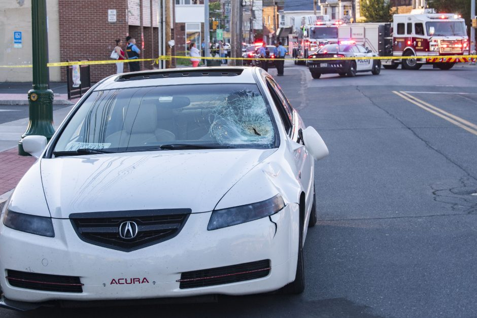 A 65-year-old woman died from injuries after she was struck by this Acura in front of the Dollar Store on Crane Street near Chrisler Avenue Thursday, June 24, 2021. She was taken to Albany Medical Center.