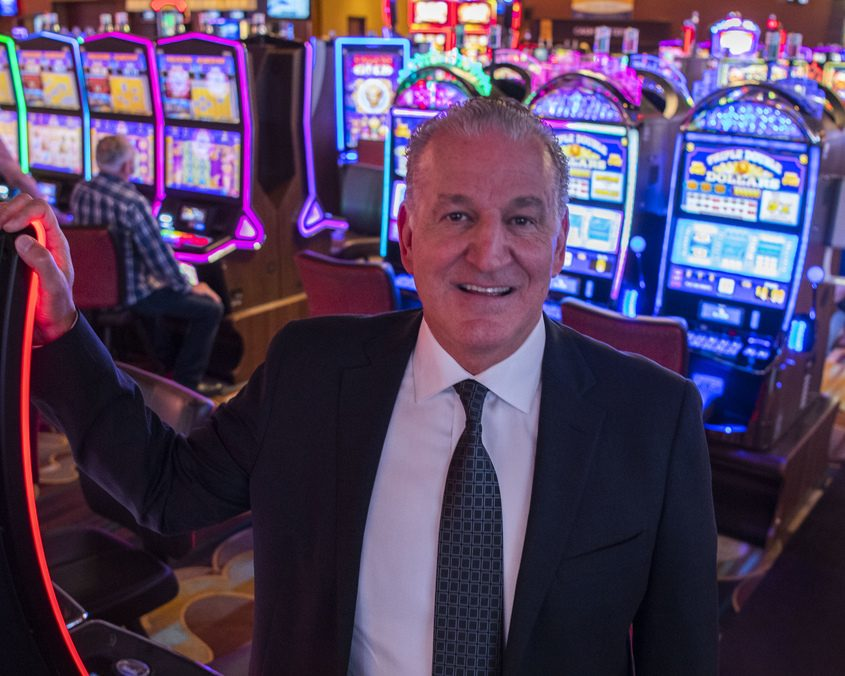Rick Richards, the new general manager of Rivers Casino & Resort Schenectady, is shown on the gaming floor Thursday.