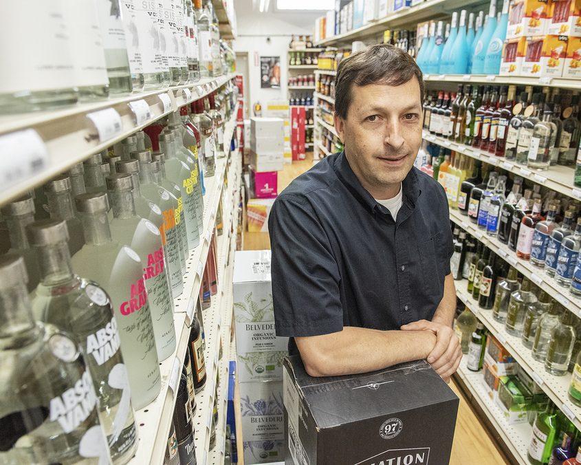 Fulton Street Liquor owner Tracy Green stands inside his liquor store in Gloversville on Thursday, June 24, 2021.