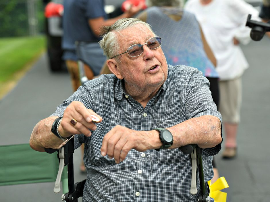 Battle of the Bulge, U.S. Army veteran Allan Atwellcelebrates his 95th birthday at his home on Greenlea Drive in Clifton Park onAug. 2.
