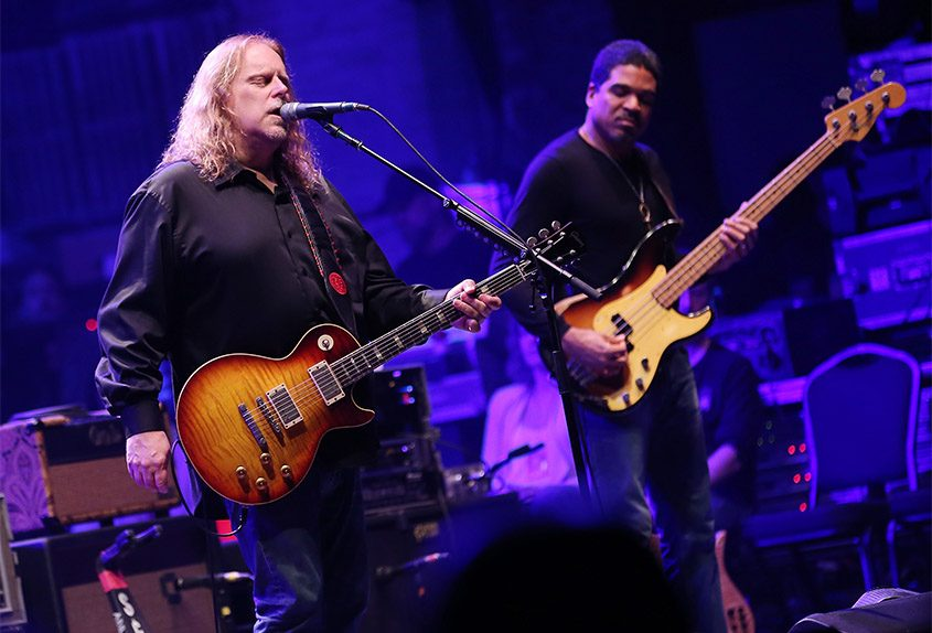 Warren Haynes and Oteil Burbridge of The Allman Brothers Band perform at The Beacon Theatre on Oct. 28, 2014, in New York City. (Tribune News Service)