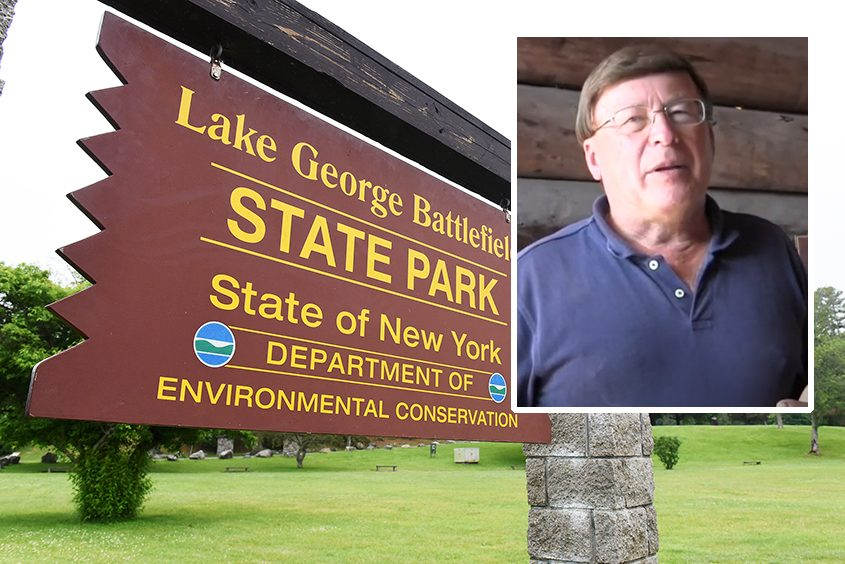 The soon-to-open Lake George Battlefield Park Visitors Interpretive Centerwould not have become a reality without the work ofthe late archaeologist David Starbuck, inset,