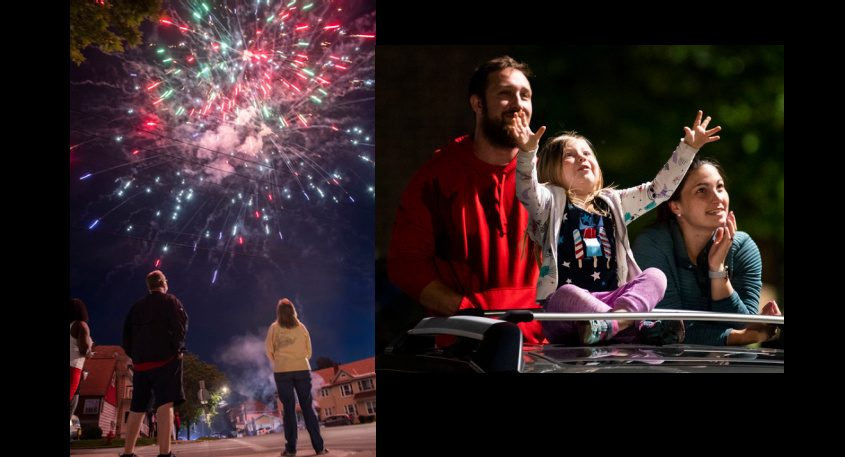 Images from Sunday night's fireworks