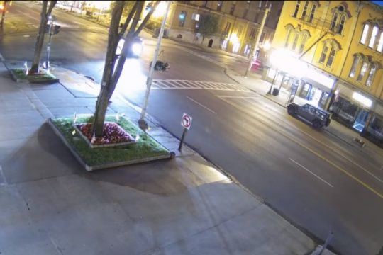 A screen capture from the Saratoga Springs Police Department video