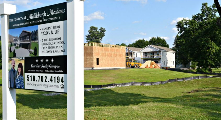 Construction is underway at Middleburgh Meadows on Route 30 in Middleburgh on Monday.