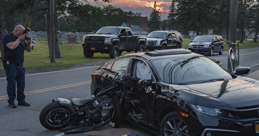 The crash scene Monday evening