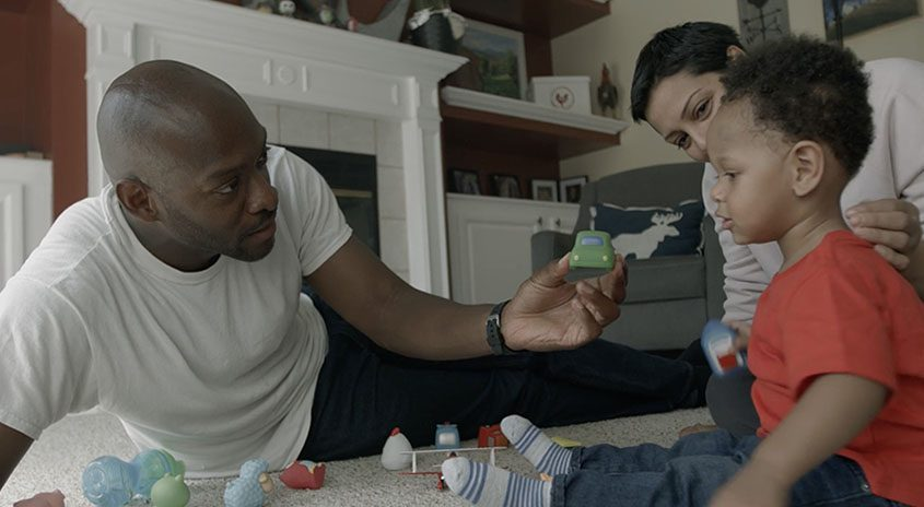"""A scene from the film """"A Void,"""" featuring lead actors Mu-Shaka Benson, left, and Kristin Noriega, right. (photo provided)"""