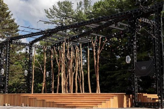 The finished outdoor stage at Glimmerglass Festivalon Otsego Lake, 8 miles north of Cooperstown. (Karli Cadel/Glimmerglass)
