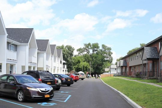 The redeveloped and the original portions of Northside Village, formerly Yates Village, are shown Wednesday in Schenectady's Northside neighborhood.