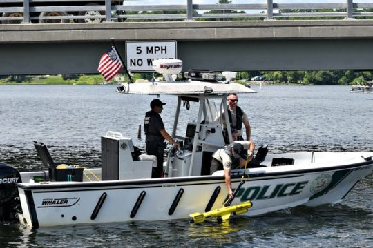 Saratoga County Sheriff's officials on Saratoga Lake July 5, the day after the death.