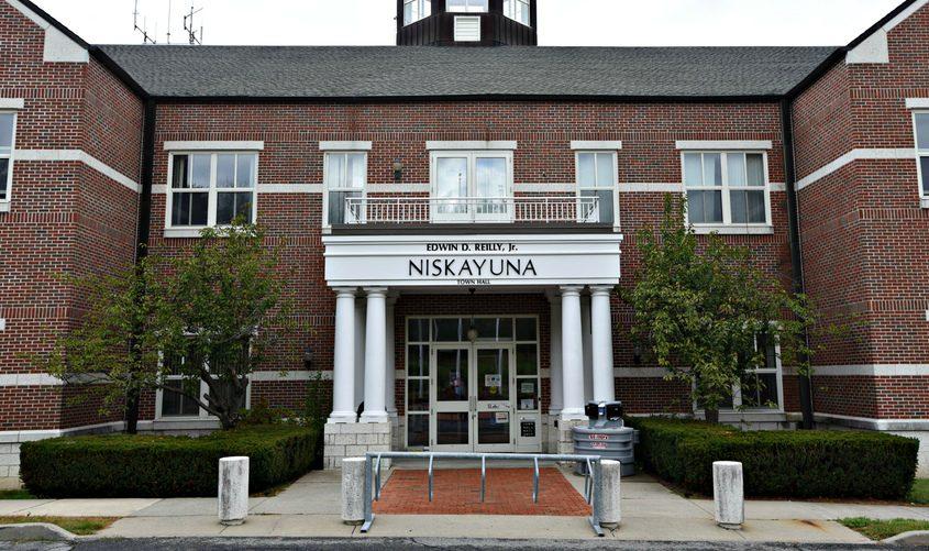 Exterior of the Niskayuna Town Hall building at Niskayuna Circleon Sept. 29, 2020.