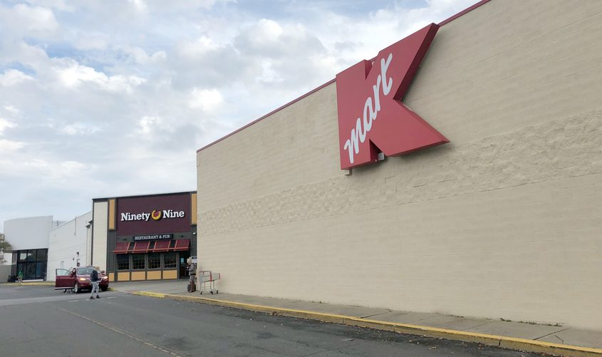 This October 2018 photo shows the exterior ofthe old Kmart in Rotterdam.