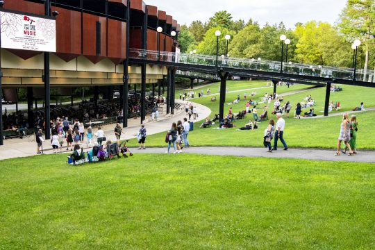 The lawn at Saratoga Performing Arts Center is pictured on Wednesday.