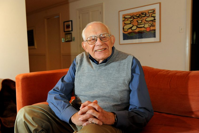CINDY SCHULTZ/TIMES UNIONTimes Union Editor-at-Large Harry Rosenfeld is shown at his home in Albany in 2013.