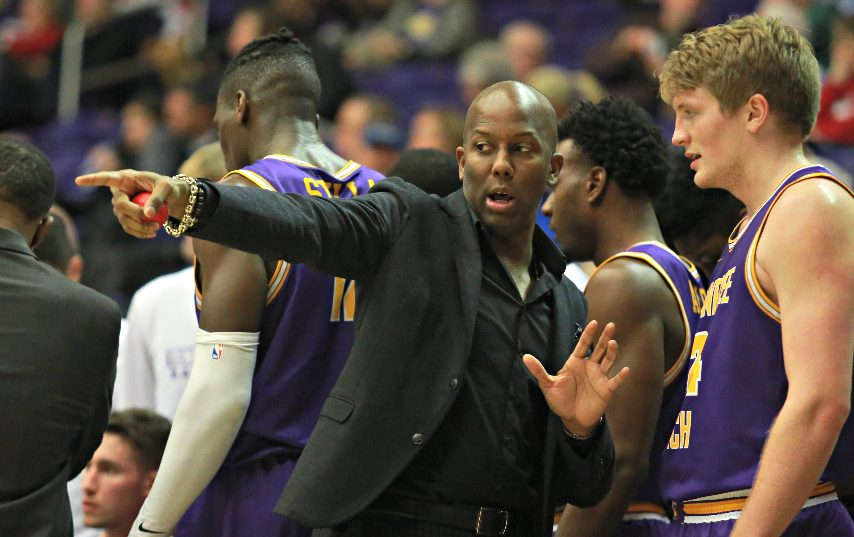 Marcus King, center, is Siena's new assistant coach. (Photo courtesy Tennessee Tech Athletics)