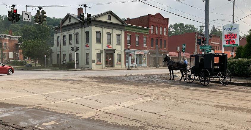 Broadway at Main Street in Fonda late Tuesday morning