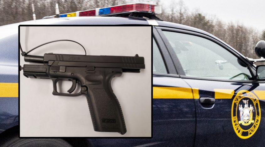 The gun state police say they recovered - Credit: New York State Police