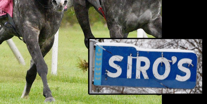 The Siro's sign. Siro's is open only when Saratoga Race Course is open